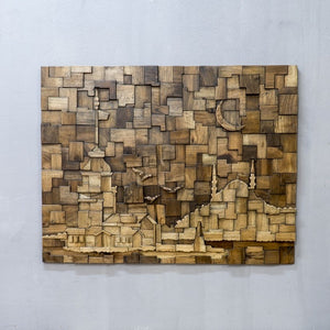 decorative wooden wall art of istanbul