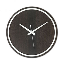 Load image into Gallery viewer, Black-White Wooden Wall Clock
