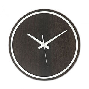 Black-White Wooden Wall Clock