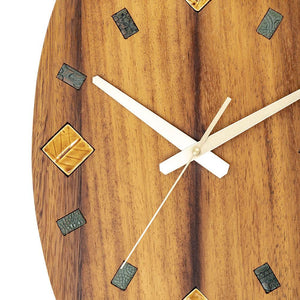 Decorative Wall Clock made of wood and ceramics