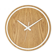 Load image into Gallery viewer, White Wooden Wall Clock