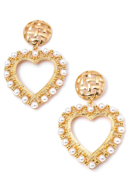 Heart Throb Gold Earrings