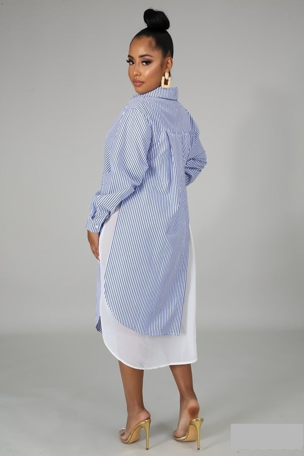 Milly blue collar dress