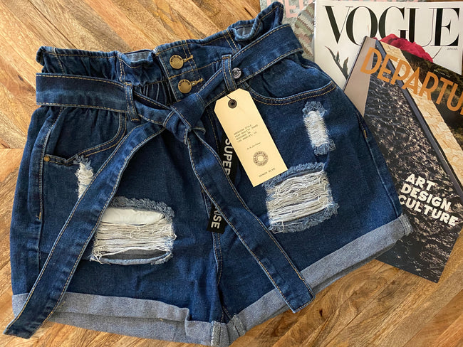 Heidi High waist denim shorts