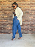 Medium Stone Wash Mom Jeans