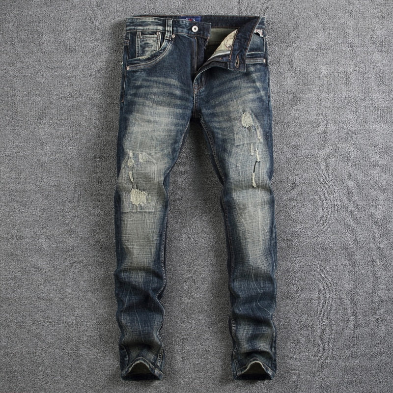 Retro Design Fashion Mens Jeans - Miranda's Paparazzi Style