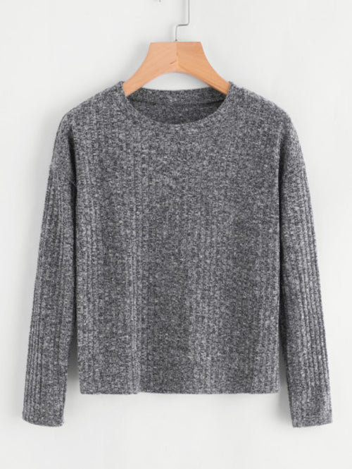 Drop Shoulder Ribbed Sweater - Miranda's Paparazzi Style