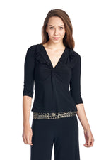 Women's 2 Piece Blouse and Sequin Waistband Pants - Miranda's Paparazzi Style
