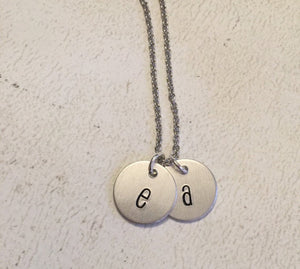 Initial necklace - Hand stamped jewelry - Miranda's Paparazzi Style