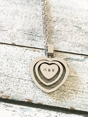 Heart necklace - Stainless steel necklace - Open - Miranda's Paparazzi Style