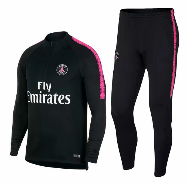 Paris BLACK RED WHITE PINK Jackets+Pants TracksuitS 18 19 chandal PSG MBAPPE Football Survetement - Miranda's Paparazzi Style