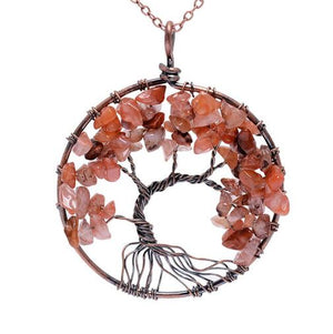 Crystal Natural Stone Tree of Life Necklace with variety of styles - Miranda's Paparazzi Style