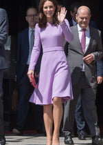 Kate Middleton Princess Purple Dress - Miranda's Paparazzi Style