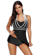 Women Halter plus size Tankini Swimsuits Beach Wear Padded Bathing Trunks Dress Briefs Suit Swimwear - Miranda's Paparazzi Style