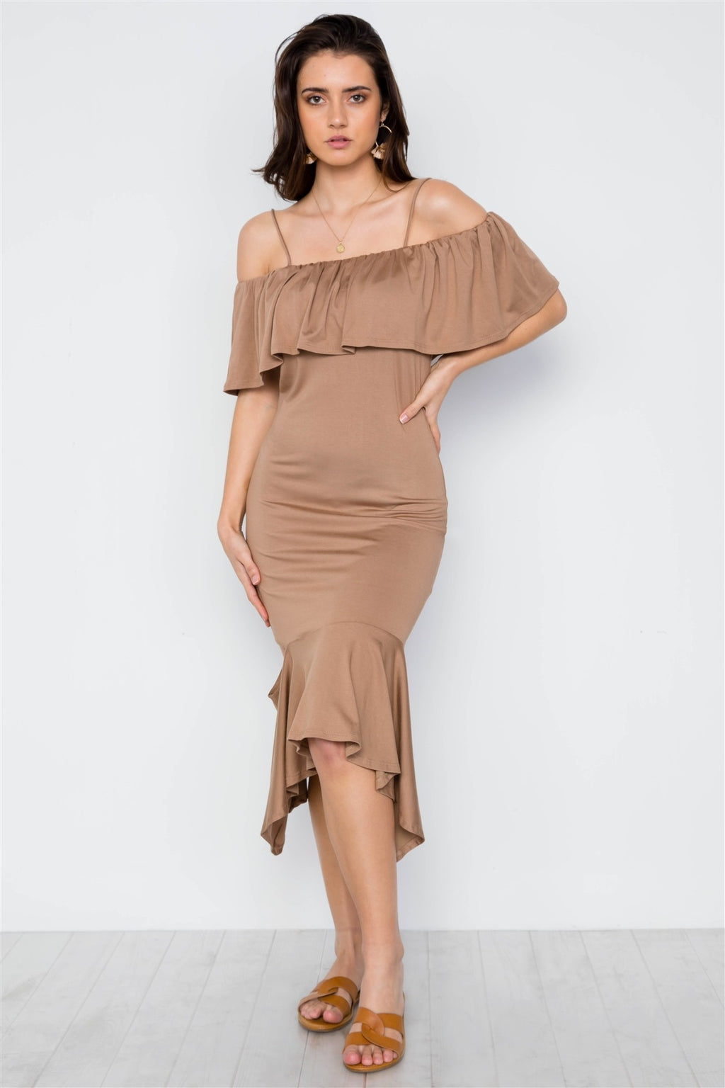 Cami Flounce Cut Out Dress - Miranda's Paparazzi Style