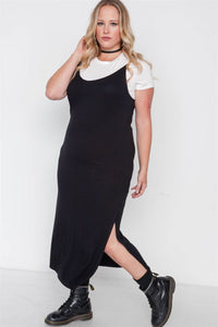Plus Size Ribbed Two Piece Dress - Miranda's Paparazzi Style