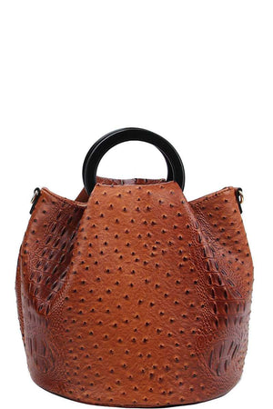 2in1 Stylish Croco Pattern Chic Satchel With Long Strap - Miranda's Paparazzi Style