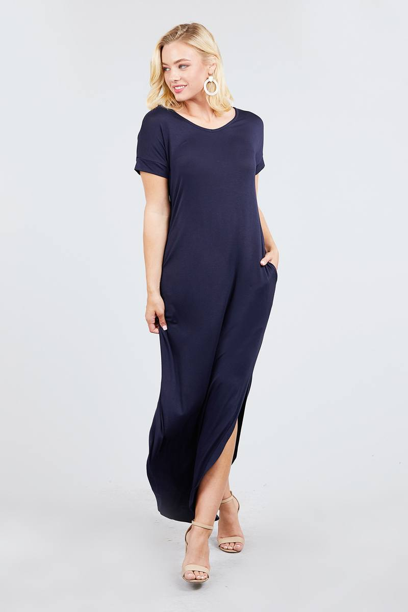 Short Dolman Sleeve Maxi Dress - Miranda's Paparazzi Style
