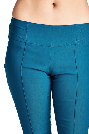 Women's Teal Fitted Stretch Pants - Miranda's Paparazzi Style