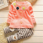 Fashion Baby kids Girls clothes Warm Cotton Flower - Miranda's Paparazzi Style