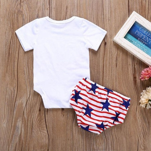 Fashion Girls Bodysuits Baby 4th Of July Letter - Miranda's Paparazzi Style