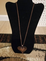 Hobo Chic Copper Heart Pendant Necklace - Miranda's Paparazzi Style