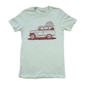 Willy Wagon Tee-Dusty Blue
