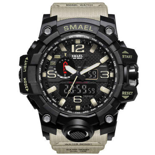 Men Military Watch 50m Waterproof Wristwatch LED - Miranda's Paparazzi Style