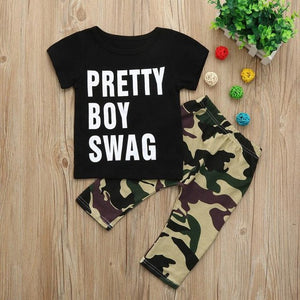 New cute kids Sets boys Girls letter Casual - Miranda's Paparazzi Style