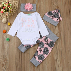 Newborn Infant Baby Girl clothes Letter Romper - Miranda's Paparazzi Style