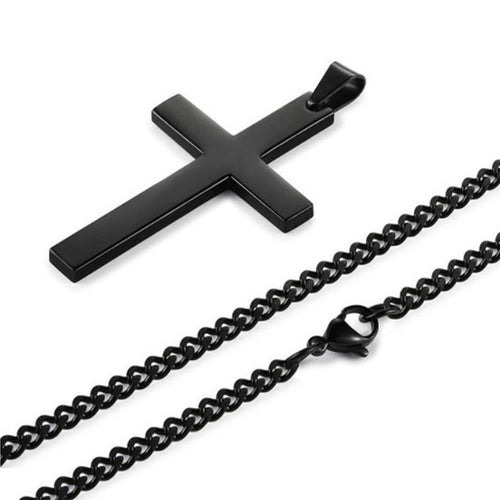 Fashion Unisex's Men Black Cross - Miranda's Paparazzi Style