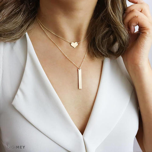 Dainty Layered Necklaces, Delicate Necklace Set, - Miranda's Paparazzi Style