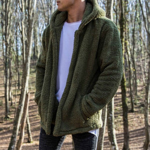 Fashion Men's Fur Fleece Coat Winter Coat Overcoat Warm Slim Jacket Outerwear Hoodies Streetwear New Plus Size