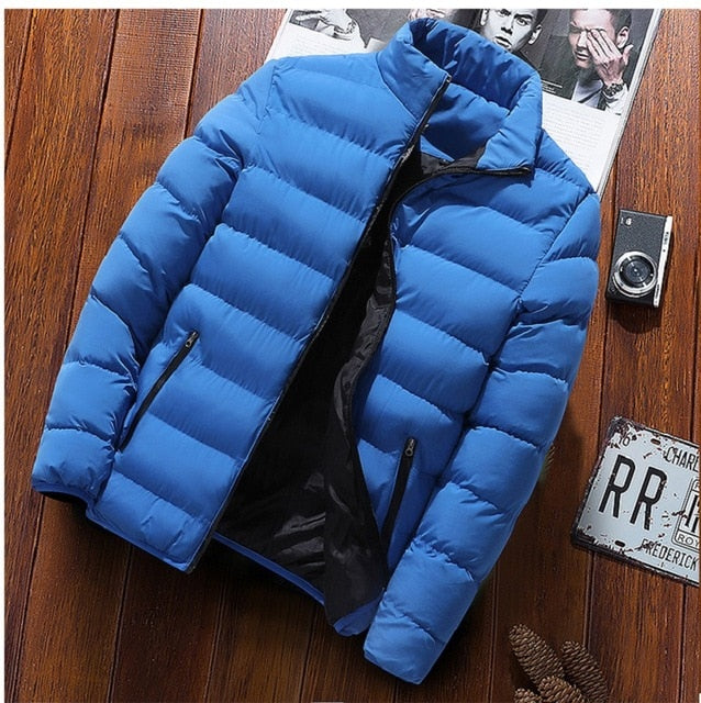 Hot Brand Fashionable Solomon Quality Open Zipper red Jackets Men Winter Casual Slim Stand Mens Parka Windbreak Jackets Coats