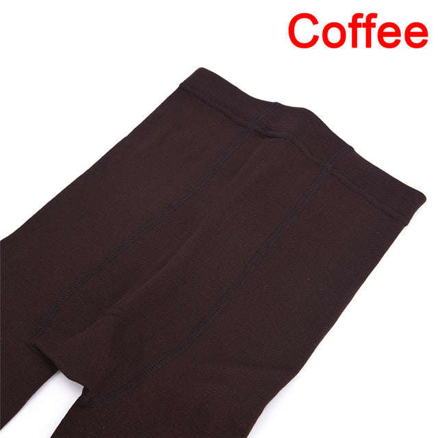 Women's Autumn Winter Thick Warm Legging Trample Feet Leggings Female Solid Color Leggings Brushed Lining Stretch Fleece Pants - Miranda's Paparazzi Style