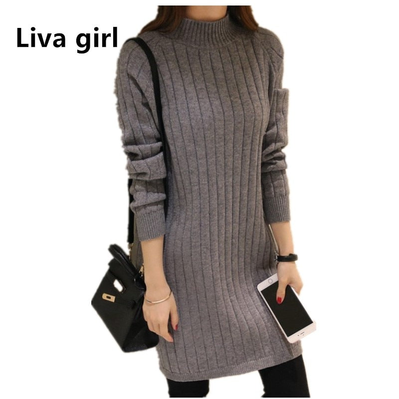 knitted sweater dress plus size - Miranda's Paparazzi Style