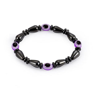 High Quality Evil Eye Water Drop Pattern Hematite Beads Bracelet - Miranda's Paparazzi Style