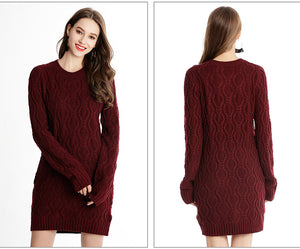 ON SALE ONLY $30! 2019 Fall/winter European And American Style Long Knit Sweater Dress - Miranda's Paparazzi Style