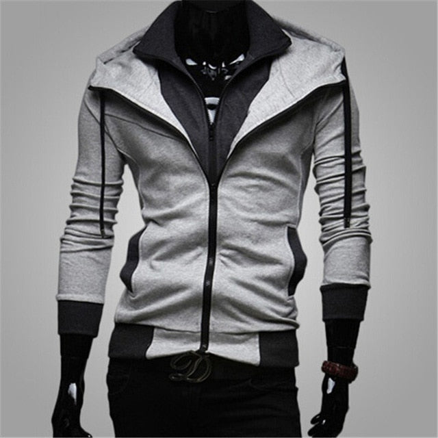 Bigsweety Fashion 2018 New Autumn Winter Men's Jacket Male Color Matching Jacket Male's Hooded Coat Outwear