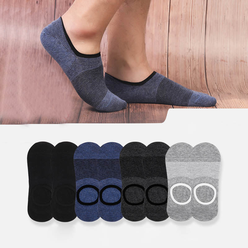Men's summer invisible deodorant breathable cotton socks