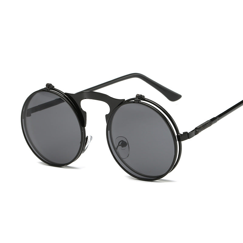 Men and Women retro metal punk steam flip flip sunglasses hipster sunglasses