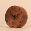 Original bedroom bedside alarm desk wood clock - Here2U