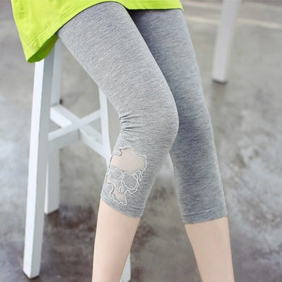 Thin seven points feet female high waist elastic leggings - Here2U
