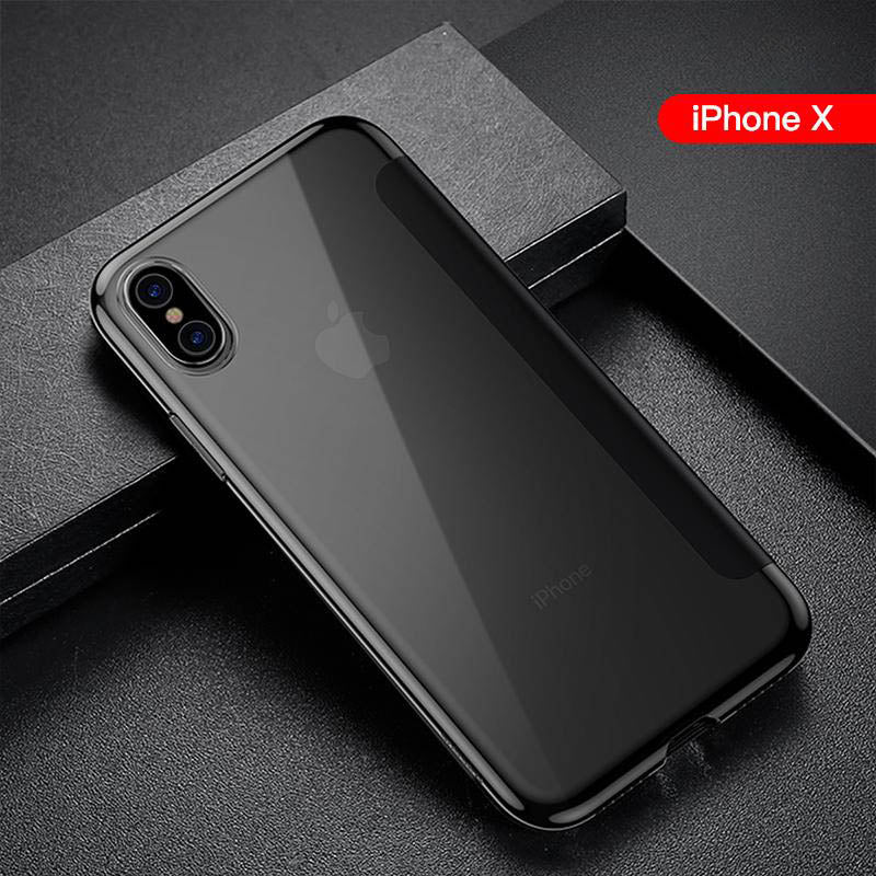 iPhone Xs  X   XsMax Silicone ultra-thin anti-fall flip IPX tide shell