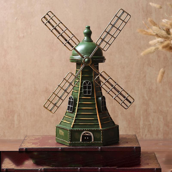 Vintage Holland Windmill Model Craft Ornament Creative Equipment - Here2U