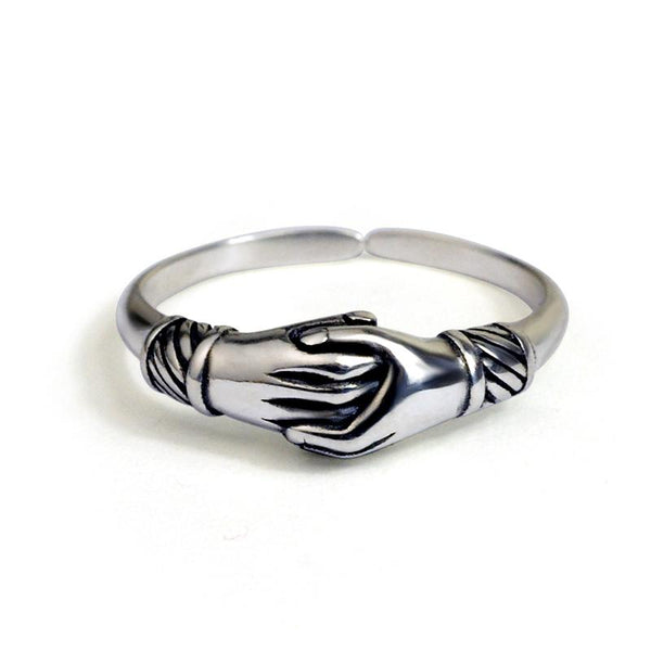Silver tail ring hand couple 925 openings - Here2U