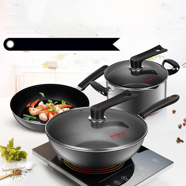 Household pot Cook big non-stick three-piece - Here2U