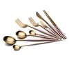 Household spoon stainless gold steak set steel - Here2U