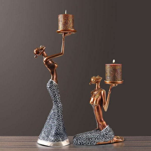 Vintage Candle European decoration table home soft romantic candlelight - Here2U