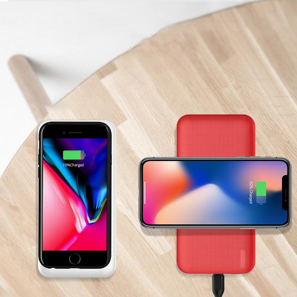 Wireless charger with mobile power applex 8plus  Bao S8 Qi - Here2U